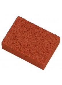 Spugna in lattice naturale, colore rosso