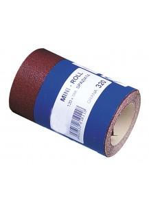Mini Rolls di carta abrasiva Spaziata Rossa. grana 120